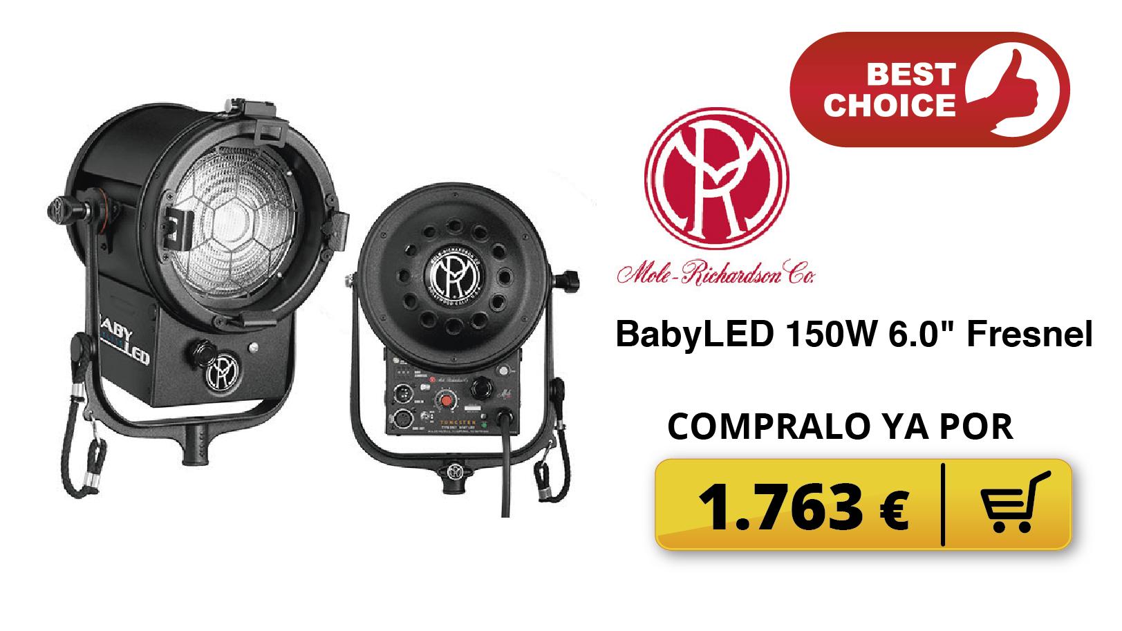 """BabyLED 150W 6.0"""" Fresnel"""