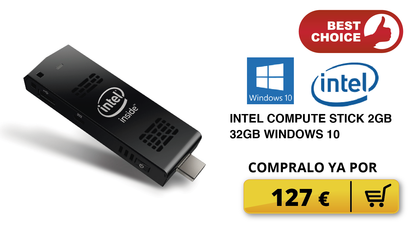 INTEL COMPUTE STICK 2GB 32GB WINDOWS 10