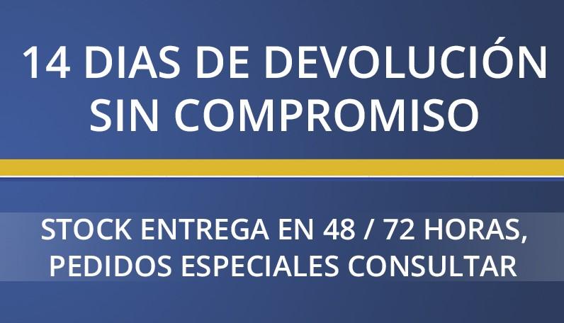 Condiciones, devolución 14 dias sin compromiso, pedidos especiales consultar.