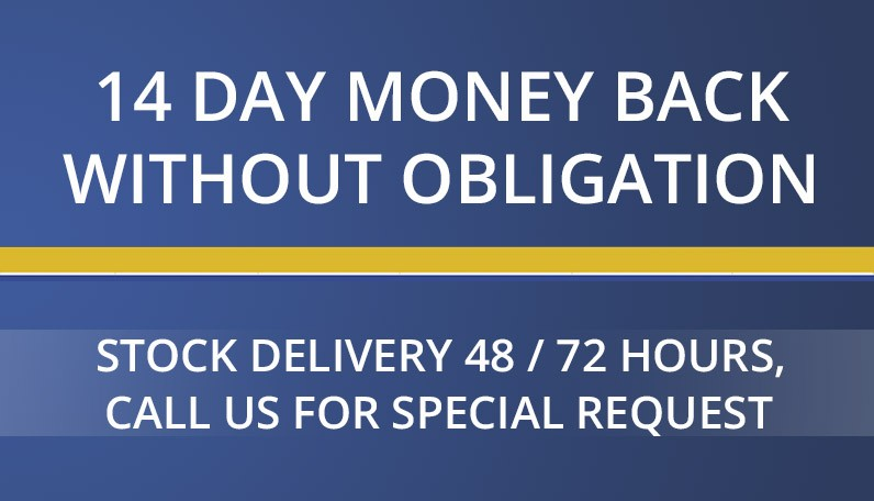 Conditions, 14 days money back, stock delivery